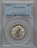 Standing Liberty Quarters: , 1928-S 25C MS64 PCGS. PCGS Population (422/596). NGC Census:(246/428). Mintage: 2,644,000. Numismedia Wsl. Price for probl...