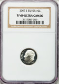 Proof Roosevelt Dimes, 2007-S 10C Silver PF69 Ultra Cameo NGC. 2007-S 10C Silver PF69Ultra Cameo NGC. ... (Total: 2 coins)