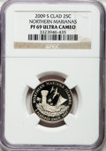 Proof Statehood Quarters, 2009-S 25C Guam Clad, PF69 Ultra Cameo NGC. (2)2009-S 25C AmericanSamoa Clad, PF69 Ultra Cameo NGC. 2009-S 25C Northern M... (Total:4 coins)