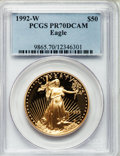 Modern Bullion Coins, 1992-W G$50 One-Ounce Gold Eagle PR70 Deep Cameo PCGS....