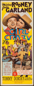 """Movie Posters:Musical, Girl Crazy (MGM, 1943). Autographed Trimmed Insert (12.5"""" X 34.5""""). Musical.. ..."""