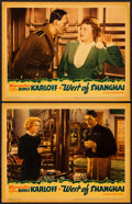 "Movie Posters:Adventure, West of Shanghai (Warner Brothers, 1937). Lobby Cards (2) (11"" X14""). Adventure.. ... (Total: 2 Items)"