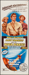"Movie Posters:Adventure, Davy Crockett and the River Pirates (Buena Vista, 1956). Insert(14"" X 36""). Adventure.. ..."