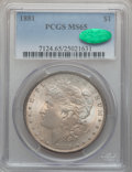 Morgan Dollars: , 1881 $1 MS65 PCGS. CAC. PCGS Population (950/87). NGC Census:(629/52). Mintage: 9,163,975. Numismedia Wsl. Price for probl...