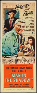 "Movie Posters:Drama, Man in the Shadow (Universal International, 1958). Insert (14"" X 36""). Drama.. ..."