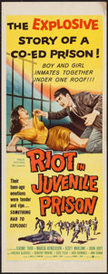 "Movie Posters:Exploitation, Riot in Juvenile Prison (United Artists, 1959). Insert (14"" X 36"").Exploitation.. ..."