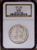 Bust Half Dollars: , 1812 50C XF40 NGC. O-104A. NGC Census: (21/493). PCGS Population (28/376). Mintage: 1,628,059. Numismedia Wsl. Price: $140....