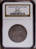 1828 50C Square Base 2, Small 8, Large Letters AU55 NGC. O-110. NGC Census: (0/0). PCGS Population (29/64). (#6151)...(P...