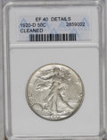 Walking Liberty Half Dollars: , 1920-D 50C --Cleaned--ANACS. XF40 Details. NGC Census: (4/144). PCGS Population (5/258). Mintage: 1,551,000. Numismedia Wsl....