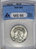 1939 50C MS66 ANACS. NGC Census: (624/198). PCGS Population (932/201). Mintage: 6,820,808. Numismedia Wsl. Price: $432...