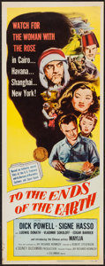"""Movie Posters:Exploitation, To the Ends of the Earth (Columbia, R-1956). Insert (14"""" X 36"""").Exploitation.. ..."""