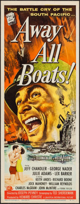 "Away All Boats (Universal International, 1956). Insert (14"" X 36""). War"