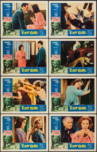 """The Cat Girl (American International, 1957). Lobby Card Set of 8 (11"""" X 14""""). Horror. ... (Total: 8 Items)"""