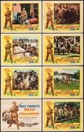 "Movie Posters:Western, Davy Crockett, King of the Wild Frontier (Buena Vista, 1955). Lobby Card Set of 8 (11"" X 14""). Western.. ... (Total: 8 Items)"