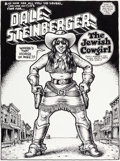 "Original Comic Art:Splash Pages, Robert Crumb Big Ass Comics #1 ""Dale Steinberger the JewishCowgirl"" Splash Page 1 Original Art (Rip Off Press, 19..."