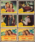 "Movie Posters:Mystery, A Night to Remember (Columbia, 1942). Title Lobby Cards (2) & Lobby Cards (4) (11"" X 14""). Mystery.. ... (Total: 6 Items)"