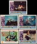 """Movie Posters:Fantasy, The Mermaids of Tiburon (Film Group, 1962). Title Lobby Card and Lobby Cards (4) (11"""" X 14""""). Fantasy.. ... (Total: 5 Items)"""