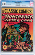 Golden Age (1938-1955):Horror, Classic Comics #18 The Hunchback of Notre Dame - First EditionIsland Publishing (Gilberton, 1944) CGC FN/VF 7.0 Off-white pag...