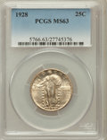 Standing Liberty Quarters: , 1928 25C MS63 PCGS. PCGS Population (192/294). NGC Census:(88/289). Mintage: 6,336,000. Numismedia Wsl. Price for problem ...