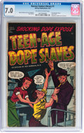 Golden Age (1938-1955):Crime, Harvey Comics Library #1 Teen-Age Dope Slaves (Harvey, 1952) CGC FN/VF 7.0 Off-white to white pages....