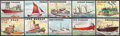 "Non-Sport Cards:Sets, 1955 Topps ""Rails and Sails"" Partial Set (140/200) Including Almost All High Number Cards. ..."