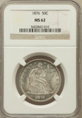 Seated Half Dollars: , 1876 50C MS62 NGC. NGC Census: (42/106). PCGS Population (57/136).Mintage: 8,419,150. Numismedia Wsl. Price for problem fr...