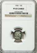Proof Barber Dimes, 1906 10C PR65 Cameo NGC....