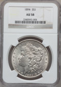 Morgan Dollars, 1894 $1 AU58 NGC....