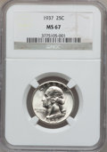 Washington Quarters, 1937 25C MS67 NGC....
