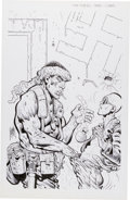 Original Comic Art:Covers, Don Lomax Fire Team #2 Unpublished Cover Original Art(Aircel, 1990)....