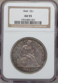 Seated Dollars, 1844 $1 AU55 NGC....