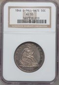 Seated Half Dollars, 1846-O 50C Tall Date AU53 NGC....