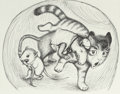 Mainstream Illustration, GARTH WILLIAMS (American, 1912-1996). Harry Kitten and TuckerMouse, group of four: page 72, 73, 75 and 76 illustrations...(Total: 4 Items)