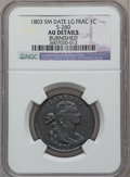 Large Cents, 1803 1C Small Date, Large Fraction -- Burnished -- NGC Details. AU.S-260, B-19, R.1....