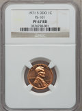 Proof Lincoln Cents, 1971-S 1C Doubled Die Obverse PR67 Red NGC. FS-101....