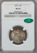 Seated Quarters, 1876 25C MS65 NGC. CAC....