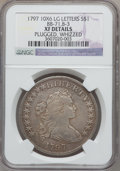 Early Dollars, 1797 $1 10x6 Stars, Large Letters -- Plugged, Whizzed -- NGCDetails. XF. B-3, BB-71, R.2....