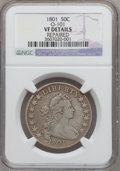 Early Half Dollars, 1801 50C -- Repaired -- NGC Details. VF. O-101, R.3....
