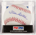 Autographs:Baseballs, Steve Carlton Single Signed Baseball PSA Gem Mint 10....