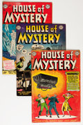 Silver Age (1956-1969):Horror, House of Mystery Group (DC, 1952-53).... (Total: 5 Comic Books)