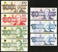 "Canadian Currency: , Matching Serial Number ""963"" Set 1986-91.. ... (Total: 7 notes)"