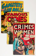 Golden Age (1938-1955):Crime, Comic Books - Assorted Golden Age Crime Comics Group (Various Publishers, 1948-51) Condition: Average GD.... (Total: 3 Comic Books)