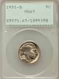 Buffalo Nickels: , 1931-S 5C MS63 PCGS. PCGS Population (210/3281). NGC Census:(123/1549). Mintage: 1,200,000. Numismedia Wsl. Price for prob...