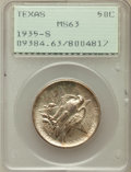 Commemorative Silver: , 1935-S 50C Texas MS63 PCGS. PCGS Population (172/1845). NGC Census:(29/1262). Mintage: 10,000. Numismedia Wsl. Price for p...