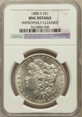 Morgan Dollars, 1888-S $1 -- Improperly Cleaned -- NGC Details. UNC. NGC Census:(37/2953). PCGS Population (85/5238). Mintage: 657,000...