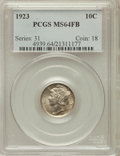 Mercury Dimes: , 1923 10C MS64 Full Bands PCGS. PCGS Population (359/540). NGCCensus: (234/316). Mintage: 50,130,000. Numismedia Wsl. Price...