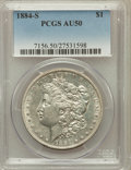 Morgan Dollars: , 1884-S $1 AU50 PCGS. PCGS Population (1059/3525). NGC Census:(831/4433). Mintage: 3,200,000. Numismedia Wsl. Price for pro...