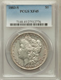 Morgan Dollars: , 1883-S $1 XF45 PCGS. PCGS Population (490/4688). NGC Census:(378/4059). Mintage: 6,250,000. Numismedia Wsl. Price for prob...