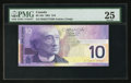 Canadian Currency: , BC-63c $10 2001 Printing BER Prefix.. ...
