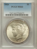 Peace Dollars: , 1926 $1 MS64 PCGS. PCGS Population (3602/1382). NGC Census:(3127/753). Mintage: 1,939,000. Numismedia Wsl. Price for probl...